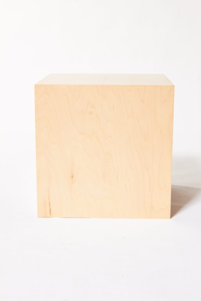 Alternate view 3 of Andy Natural Wood Cube Table