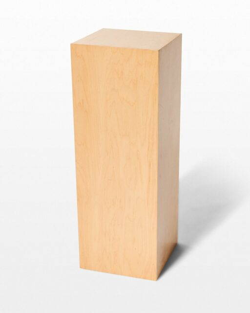 Front view of Andy Tall Natural Wood Pedestal
