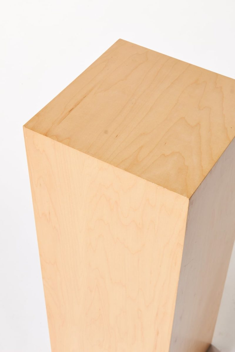 Alternate view 1 of Andy Tall Natural Wood Pedestal