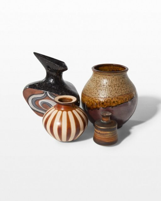 Front view of Earthtone Pottery Set