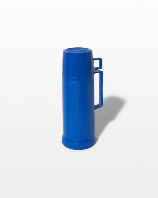 Front view of Buster Blue Thermos