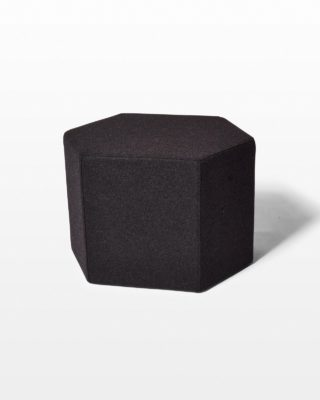 Front view of Harlan Felt Wool Ottoman