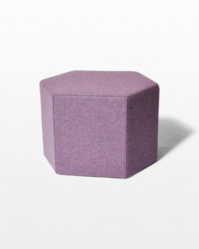 Front view of Addy Felt Wool Ottoman