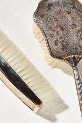 Alternate view 1 of Nova Silver Comb and Brush Set
