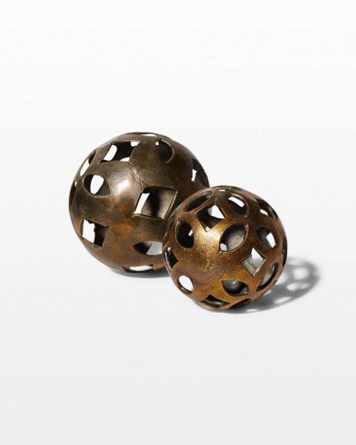 Front view of Caliper Decorative Metal Spheres