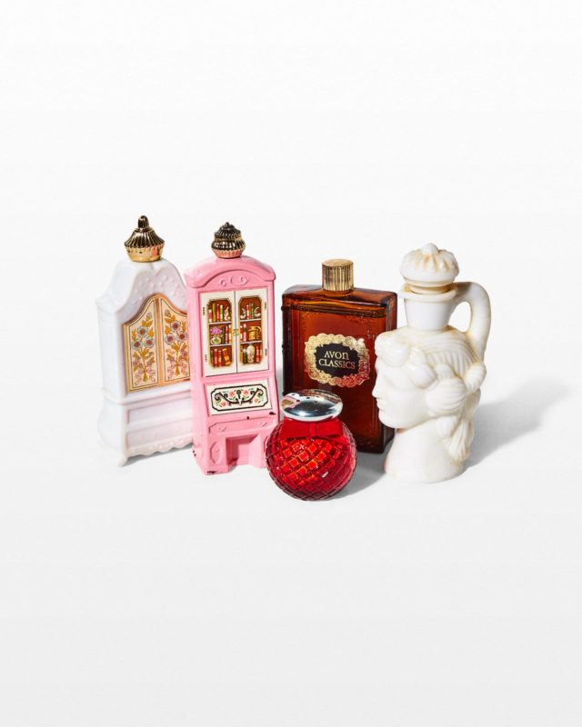 Front view of Alina Ceramic Perfume Bottle Set