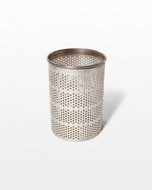Front view of Industrio Perforated Rubbish Bin