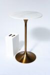 Alternate view thumbnail 3 of Jazz White Marble Tulip Bar Table