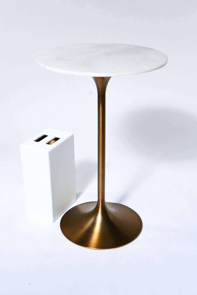 Alternate view 3 of Jazz White Marble Tulip Bar Table