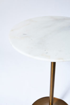 Alternate view 1 of Jazz White Marble Tulip Bar Table