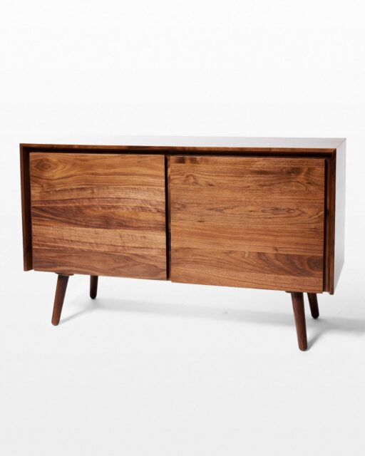 Front view of Martin Walnut Sideboard Credenza