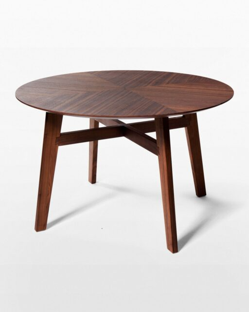 Front view of Nudge Walnut Dining Table