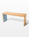 Front view thumbnail of Blue Accent Wood Bench