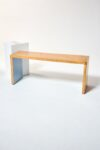 Alternate view thumbnail 1 of Blue Accent Wood Bench
