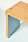 Alternate view thumbnail 4 of Blue Accent Wood Bench