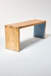 Alternate view thumbnail 3 of Blue Accent Wood Bench