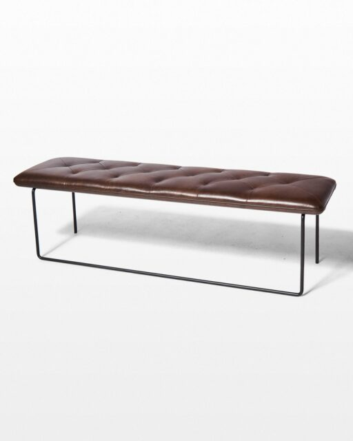 Front view of Mars Leather Bench