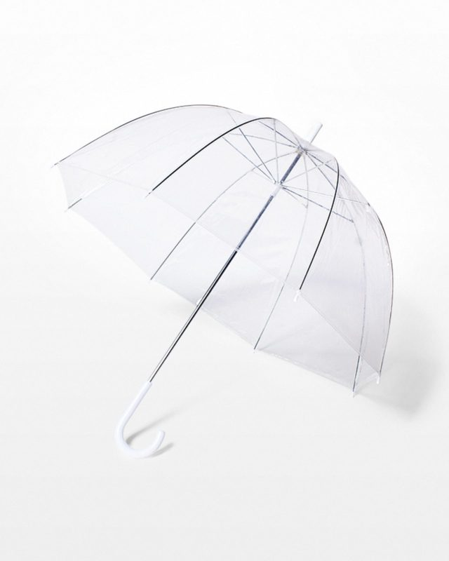Front view of Arlo Clear Bubble Umbrella