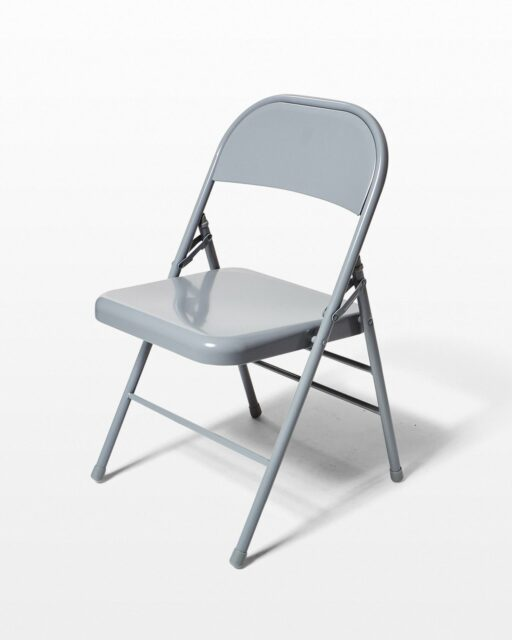 Front view of Medium Grey Folding Chair
