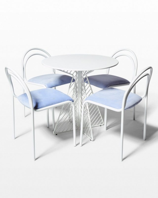 Front view of Kinzo and Fly Bistro Table Set