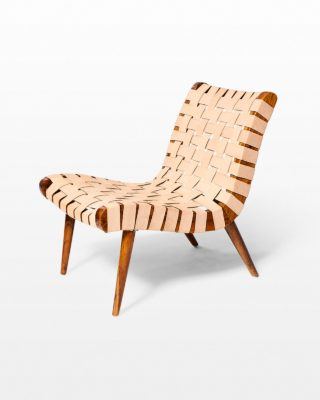 Front view of Ambassador Woven Leather Chair