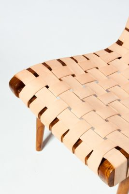 Alternate view 1 of Ambassador Woven Leather Chair