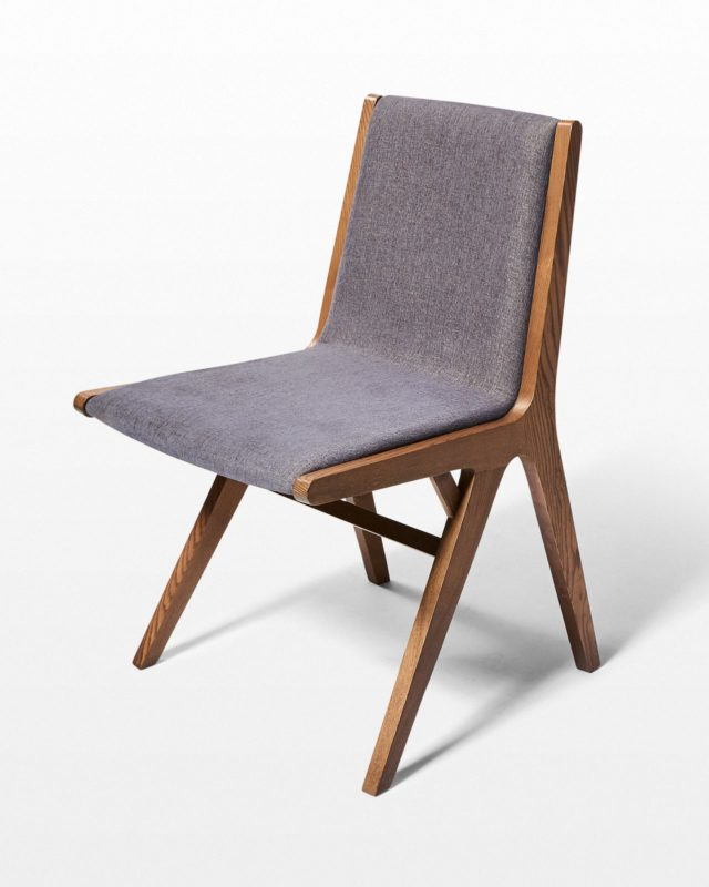 Front view of Frax Ash and Grey Chair