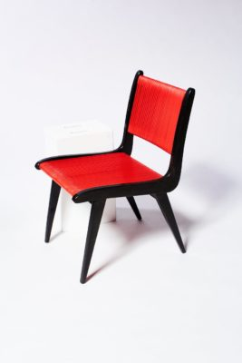 Alternate view 2 of Rojo Black and Cord Chair