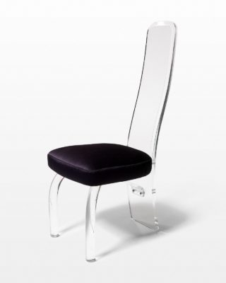 Front view of Luigi Lucite Dining Chair