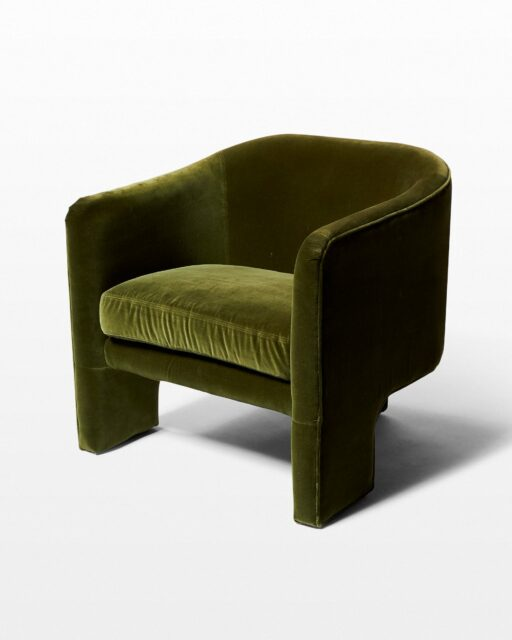 Front view of Lynn Green Velvet Tripod Chair