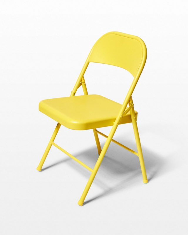 Front view of Yellow Folding Chair