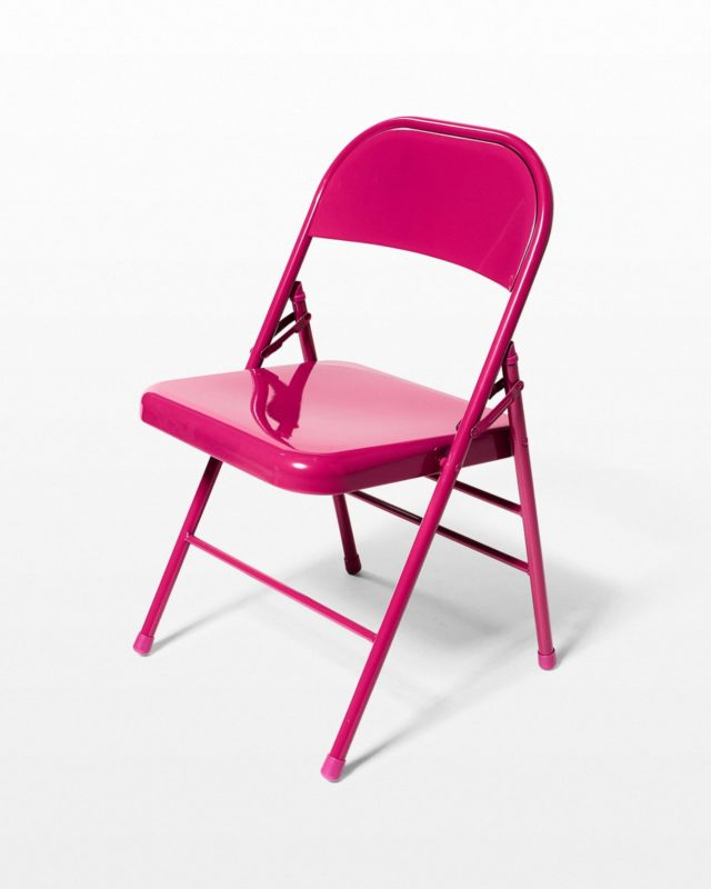 Front view of Fuscia Folding Chair