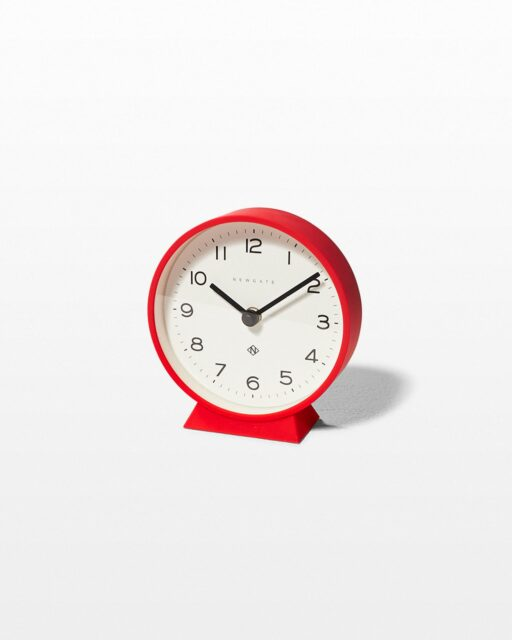 Front view of Fimbo Red Mantle Clock