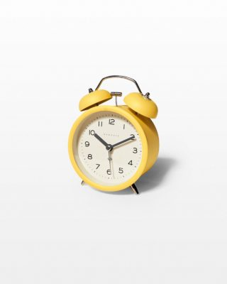 Front view of Louis Yellow Alarm Clock