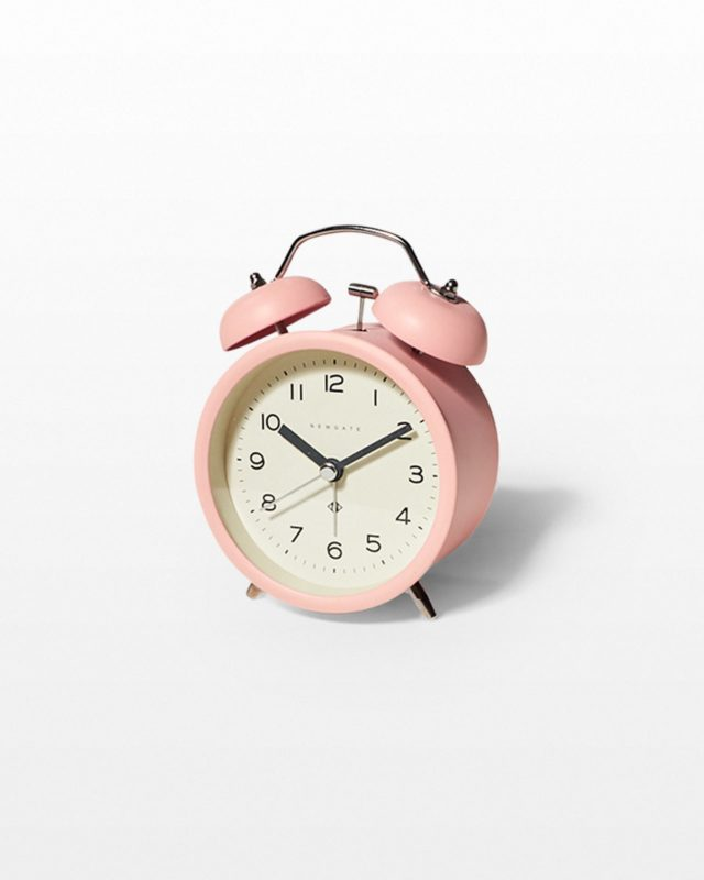 Front view of Leena Pink Alarm Clock