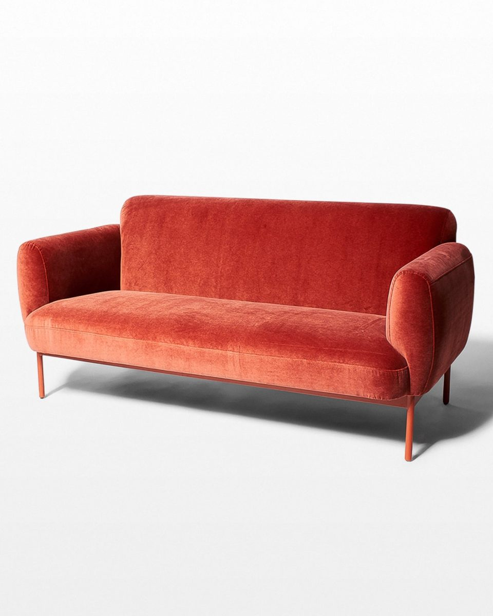 Front view of Roma Velvet Sofa