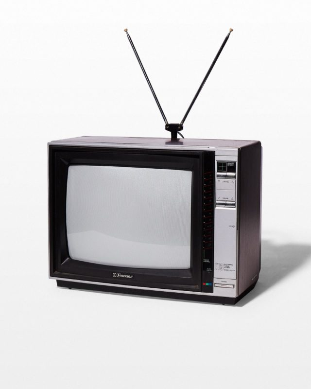 Front view of Taylo Television with Antenna