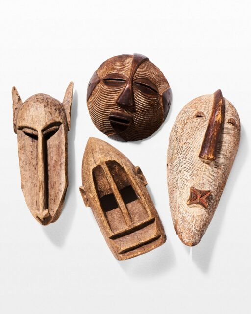 Front view of Indigenous Mask Set