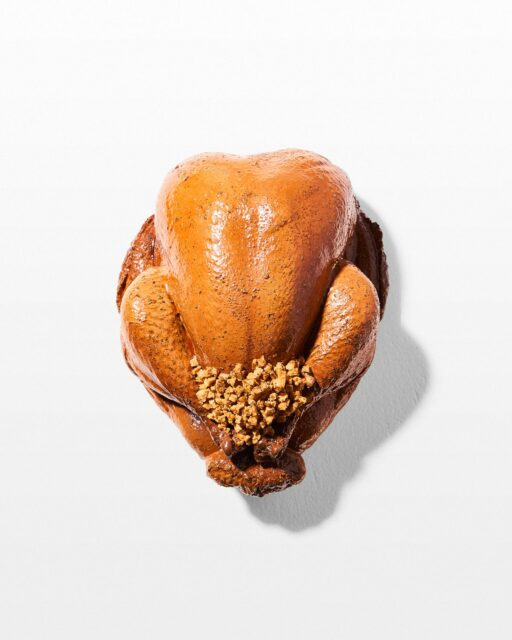 Front view of Tom Stuffed Faux Turkey