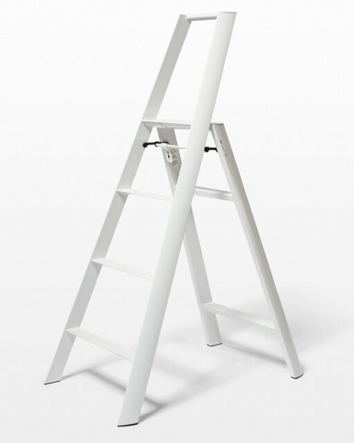 Front view of 5 Foot White Aspen Ladder