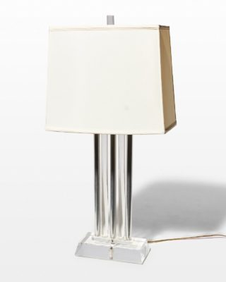 Front view of Acrylic Colonnade Lamp
