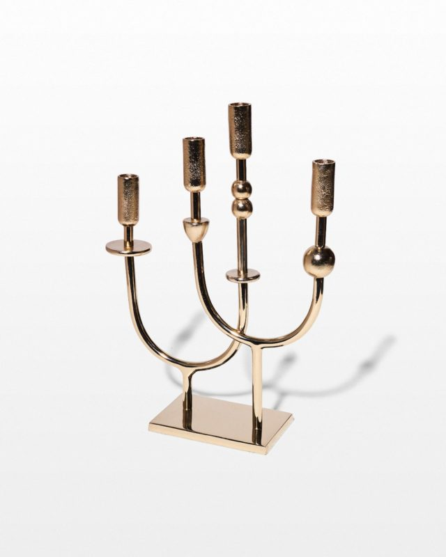 Front view of Topanga Brass Candelabra