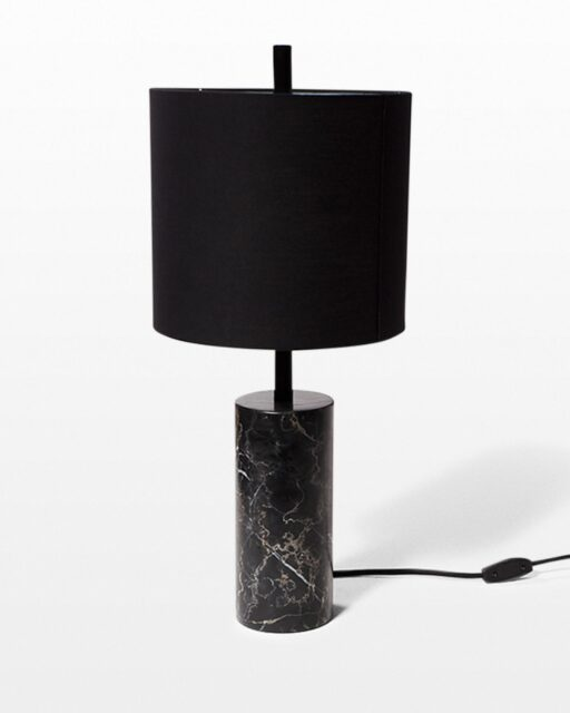 Front view of Arbor Black Marble Table Lamp