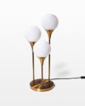 Front view thumbnail of Colonnade Brass Globe Table Lamp