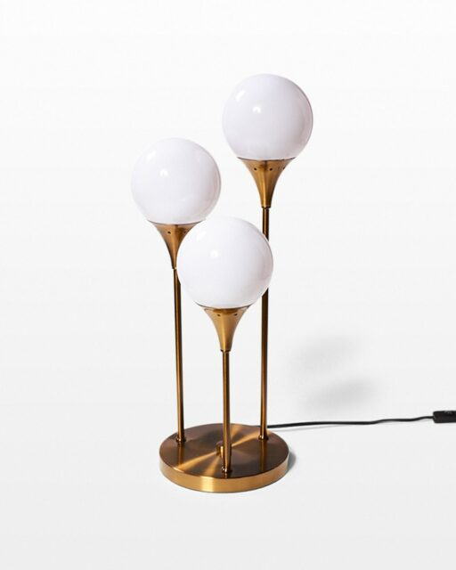 Front view of Colonnade Brass Globe Table Lamp