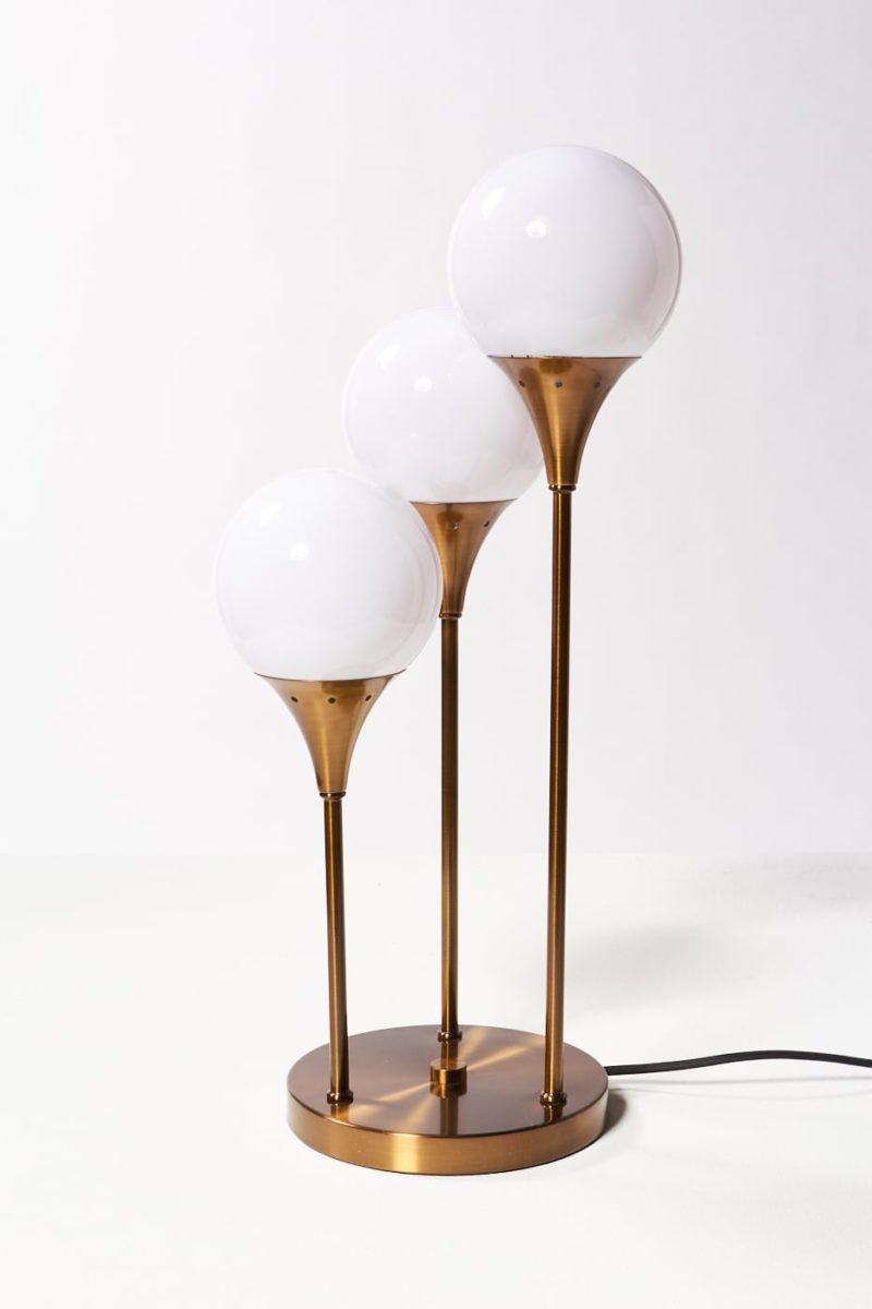 Alternate view 3 of Colonnade Brass Globe Table Lamp