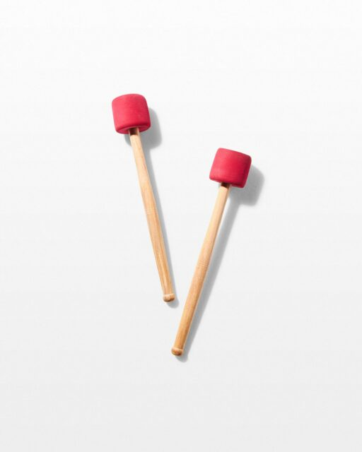 Front view of March Bass Drum Mallets
