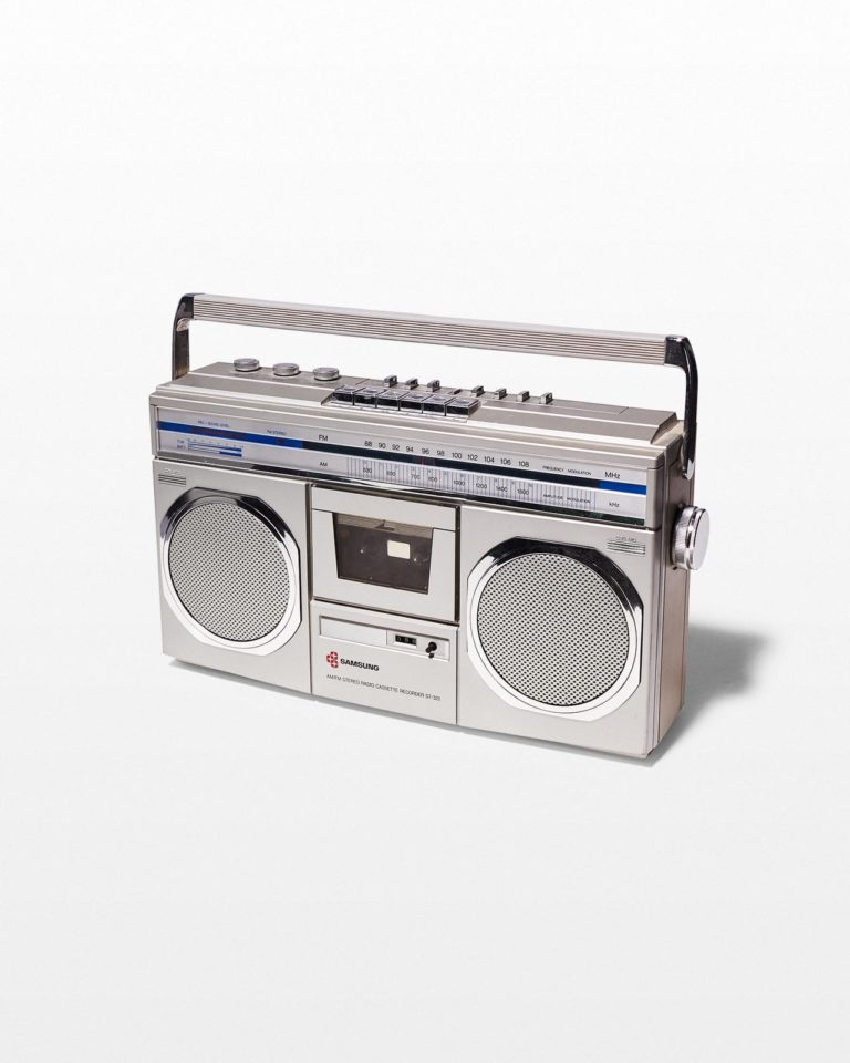 Front view of Buster Boombox