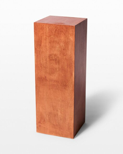 "Front view of Walden Chestnut Wood 34"" Pedestal"