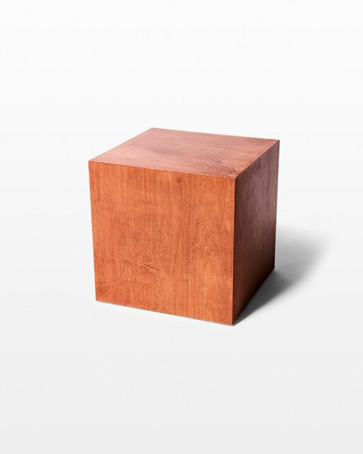 "Front view of Boerum Chestnut Wood 18"" Cube"